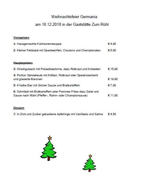 Weihnachtsfeier 2018 Essen